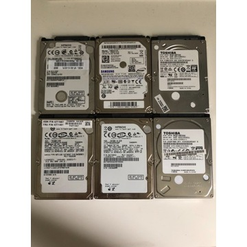 Dyski HDD 2,5cala różne pojemności