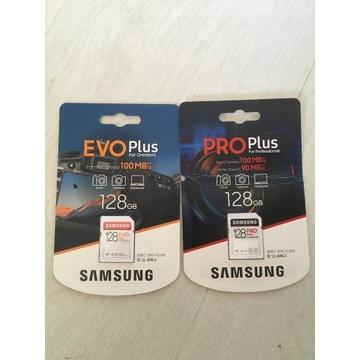 Okazja! 2x 128GB SDXC. PRO plus/EVO Plus.