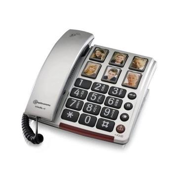 TELEFON AMPLICOMMS BIGTEL 40 PLUS STACJONARNY