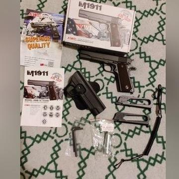 Pistolet wiatrówka Colt 1911 zestaw + gratisy