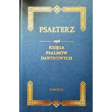 Psałterz Księga Psalmów Dawidowych PSALMY Reprint