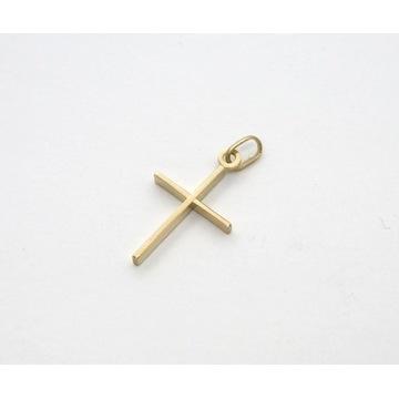 Zawieszka złota krzyż / 1 gram / 15 x 28 mm