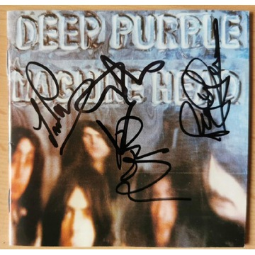 Deep Purple Machine Head płyta CD z autografami