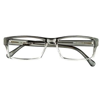 Okulary korekcyjne męskie wg recepty, czarnoprzeźr