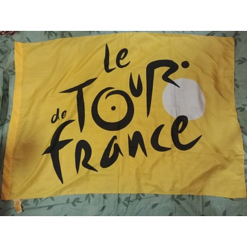 Oryginalna flaga wyścigu le Tour de France