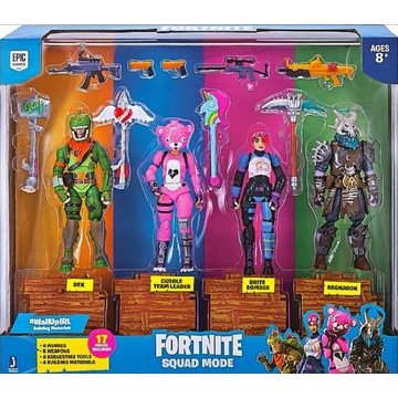 Fortnite Figurki Tm Toys Squad Mode 4Pak Akcesoria