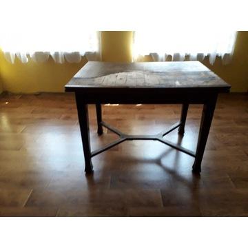 antyczny dębowy stół