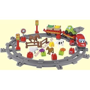 Zestaw do zabawy z pociągiem.Oryginalne opakowanie