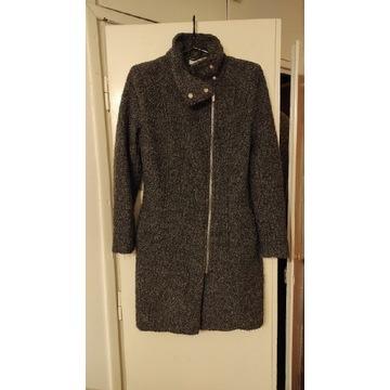 Krótki płaszczyk z wełną melanżowy H&M S-M