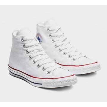 Trampki Converse White/Biale *wysokie* roz.43