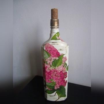 Butelka różowy bez decoupage