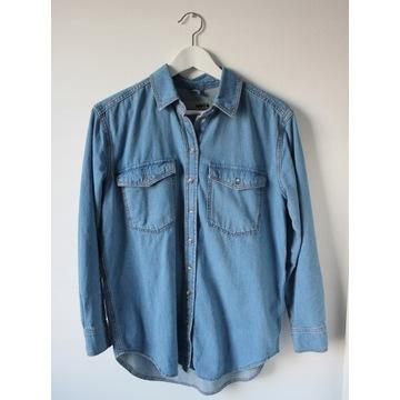 Koszula jeansowa oversize denim TOPSHOP 34/XS