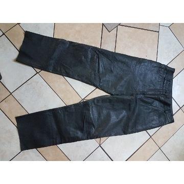Spodnie skórzane damskie r. L