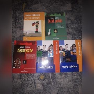 Zestaw książek do nauki języków, matematyki