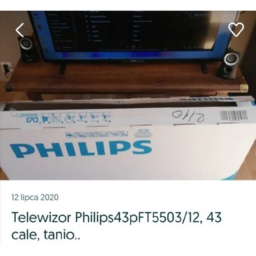 telewizor Philips43pFT5503/12 tanio..