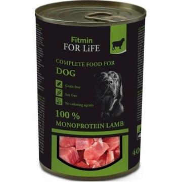FITMIN dog karma mokra dla psa z jagnięciną 400 g