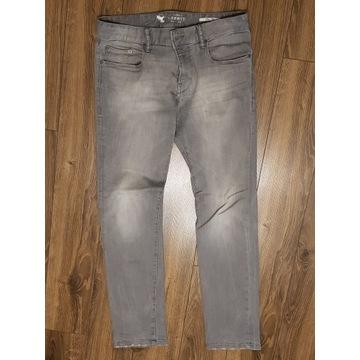 """męskie jeansy Esprit 32/34 jasne szare """"sprane"""""""