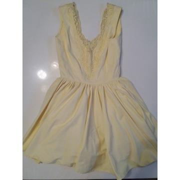 Sukienka LOU Fiorra żółta S wesele