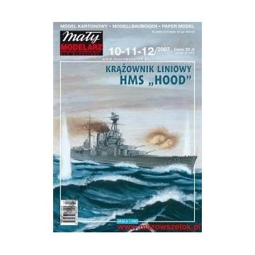 Mały Modelarz 2007 Krążownik liniowy HMS Hood