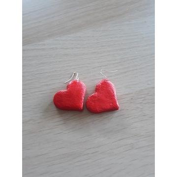 Kolczyki ręcznie robione serca