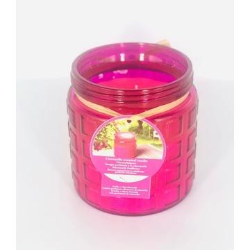 Świeca na owady z olejkiem zapachowym Komary Róż