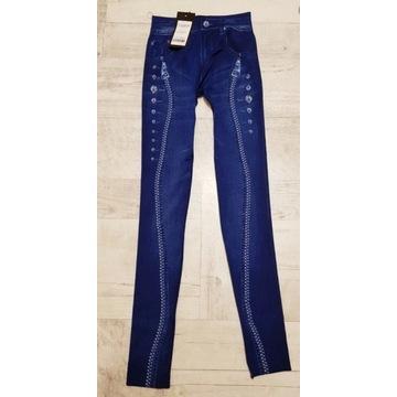 Getry legginsy la dżins bardzo elastyczne 36-40