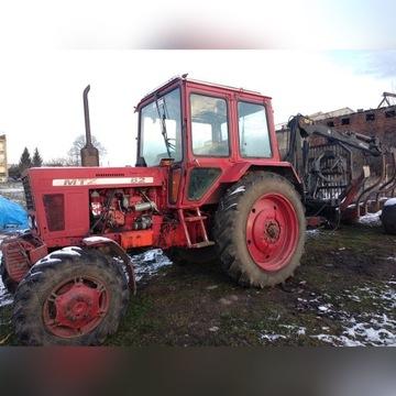 Zestaw zrywkowy Białorus MTZ 82 + wózek zrywkowy