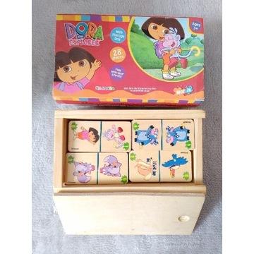 Domino drewniane Dora poznaje świat