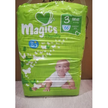Pieluszki jednorazowe Magics Flexidry 3 (4-9kg)