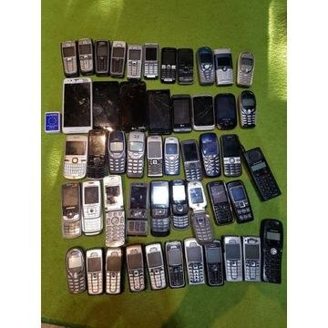 Zestaw telefonów i smartfonów uszkodzonych