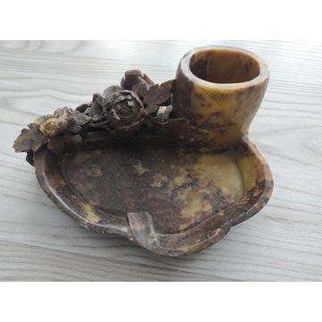 Kamień mydlany/steatyt, kałamarz 866g 17x12x9