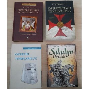 Zestaw 4 Książek Ostatni Templariusz, Saladyn, Kru