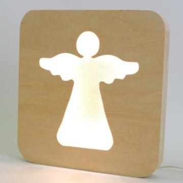 Lampa lampka nocna aniołek anioł chrzciny komunia