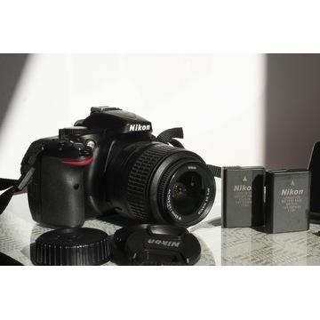 Nikon 5200, Nikkor 18-55, 16G SD, Czytnik SD