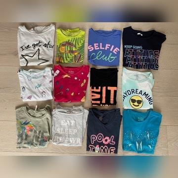 12 szt. T-shirtów 134 / 140 / 146 SUPER STAN