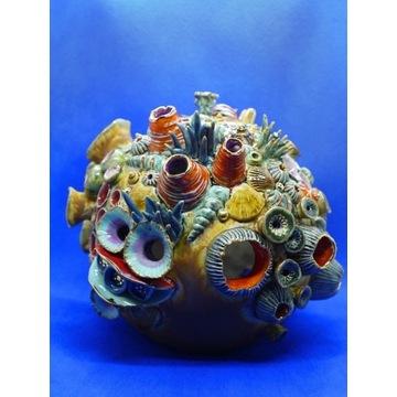 """""""Rafa koralowa"""" świecznik/lampion porcelanowy"""