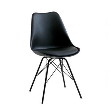 Krzesło do jadalni JYSK KLARUP czarne- 6  sztuk