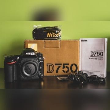 Lustrzanka Nikon D750 body przebieg 22 tys  FX