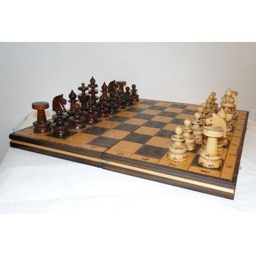 Stare drewniane szachy