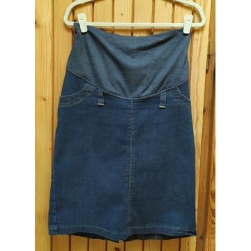 Spódnica ciążowa jeans prosta r. XL/XXL stan BDB