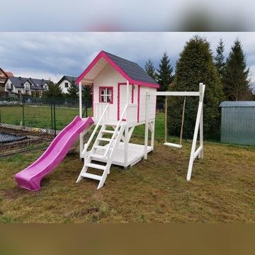 Domek drewniany dla Dzieci duzy zestaw
