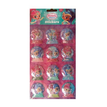 stickers naklejki 3D - Shimmer and Shine - 12 szt.