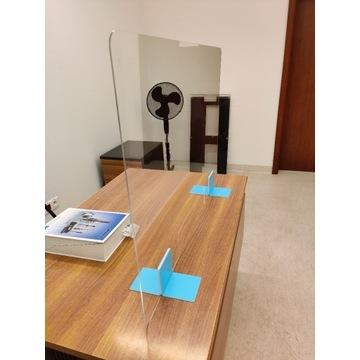 Osłona Barierka Ochronna na biurko, ladę 100x70cm