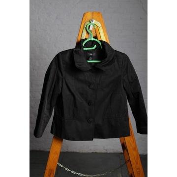 H&M Żakiet czarny lśniący chanelka rozmiar 38