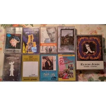 Zestaw ponad 100 różnych kaset magnetofonowych BCM