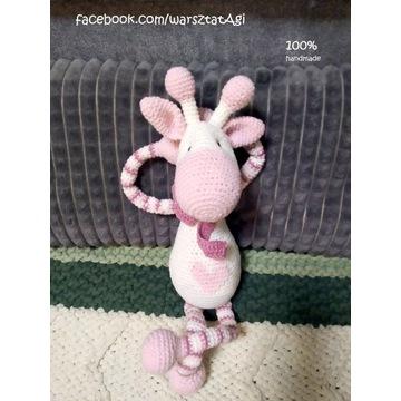 Zabawka, przytulanka, pluszak żyrafa - handmade