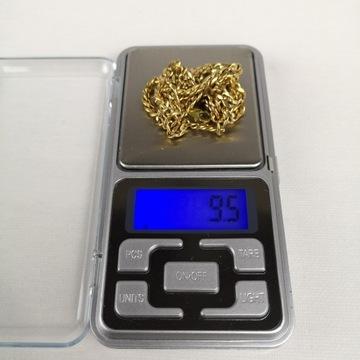 Złoty łańcuszek 8K Pr 333 długość 50cm pancerka