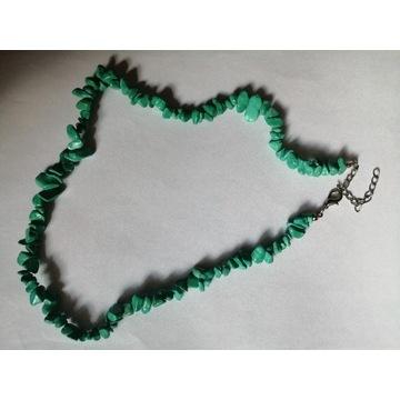 Korale kamienie kamyki RETRO vintage zielone