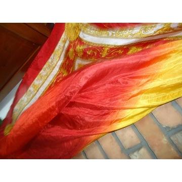 jedwab 100% pareo sukienka plaza nowe