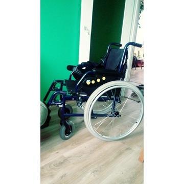 Wózek inwalidzki na gwarancji + kamizelka bezpiecz